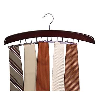 Richards Homewares Dark Walnut/Tie Holder Hanger Closet Accessories 24 Hardwood (1-Pack) (75531)
