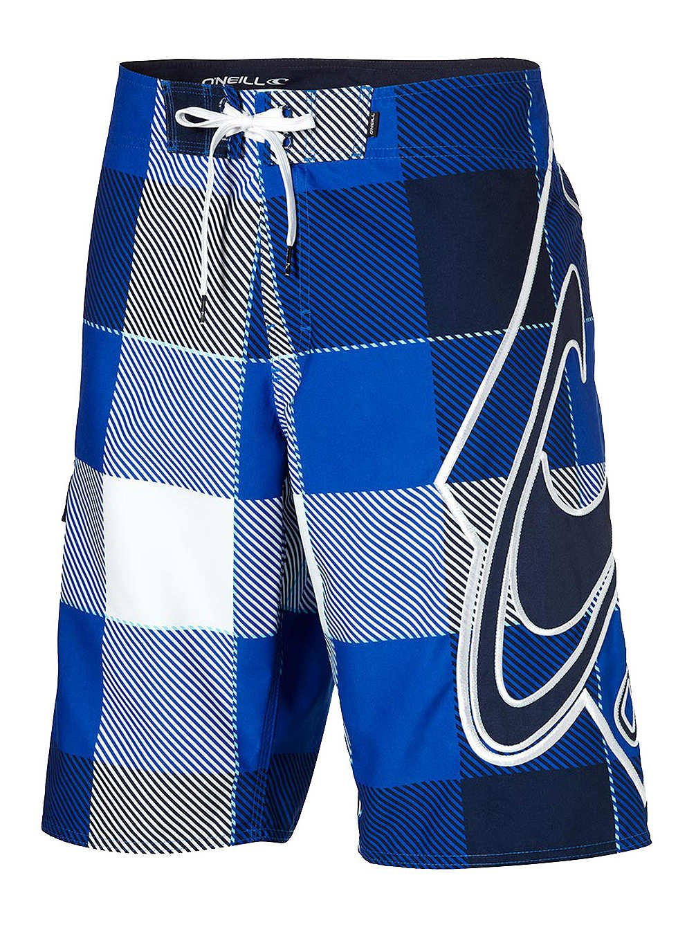 O'Neill Boardshort Swimming Shorts Trunks W32 Strike Blue White Check Lettering