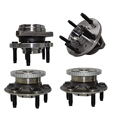 Detroit Axle - 4PC Front and Rear Wheel Hub and Bearing Assembly for 1999 2000 2001 2002 2003 Ford Windstar: Automotive