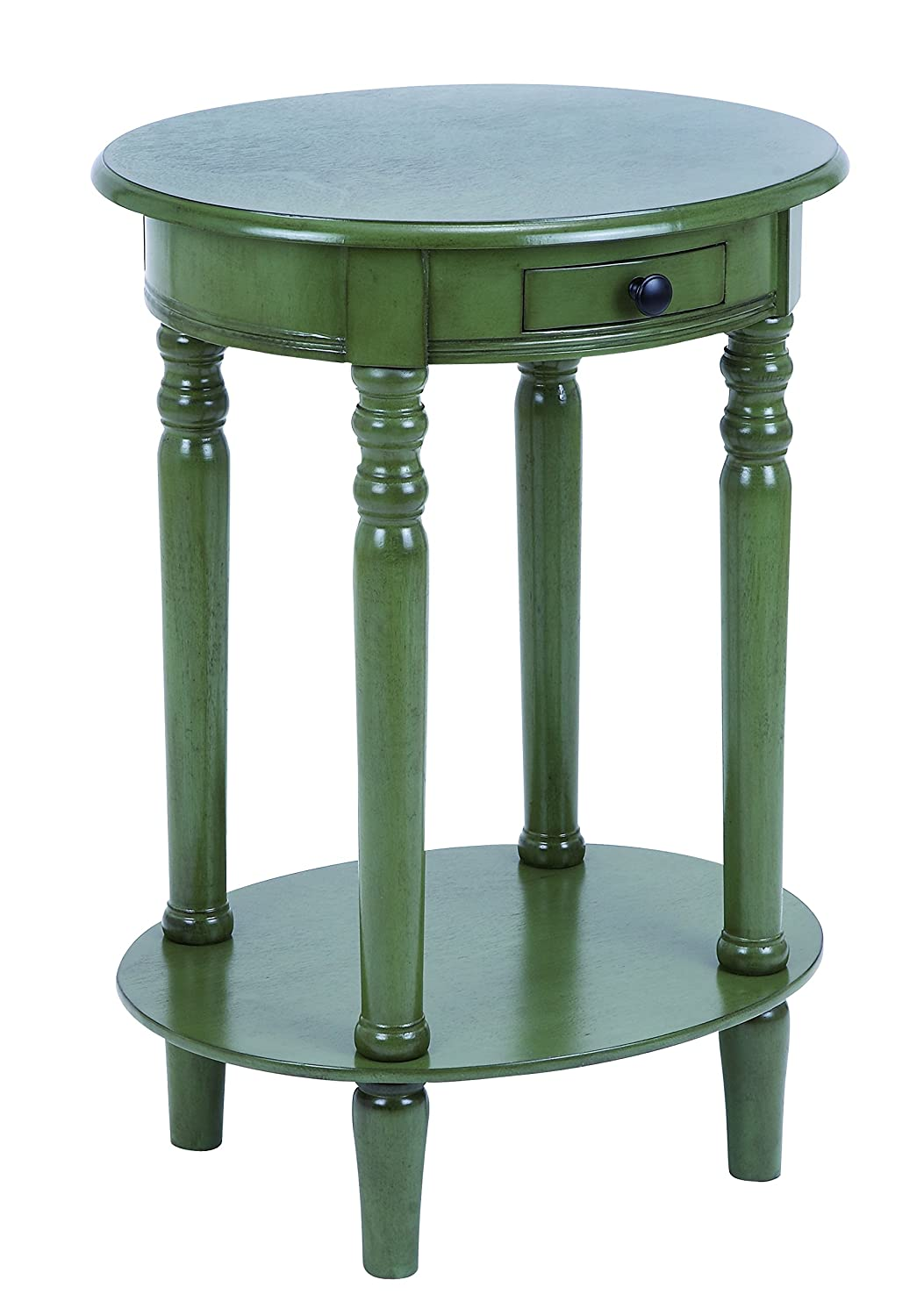 - Amazon.com: Plutus Brands Classic Accent Table With Polished Wood