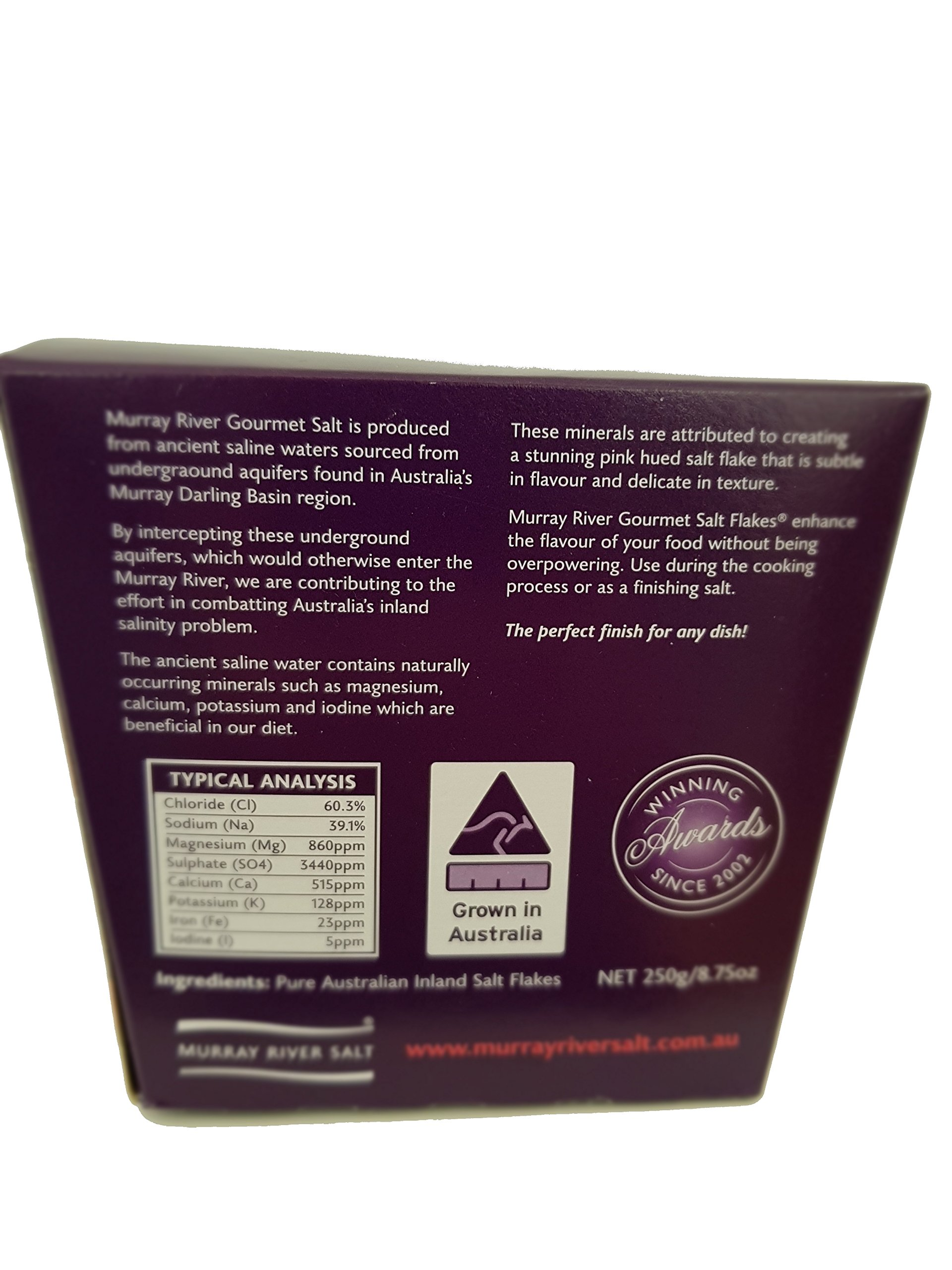 Murray River salt flakes 8.75oz Chefs Box Gourmet pure natural pink low sodium chef preferred finishing salt 100% natural and pure rich in minerals and enzymes by Murray River Gourmet (Image #2)