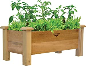 Gronomics Rustic Planter Box, 18 by 34 by 19