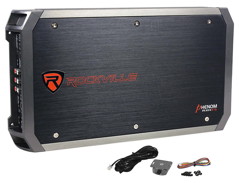 Rockville RXH-F5 3200 Watt Peak/1600w RMS 5 Channel Amplifier Car Stereo Amp Audiosavings