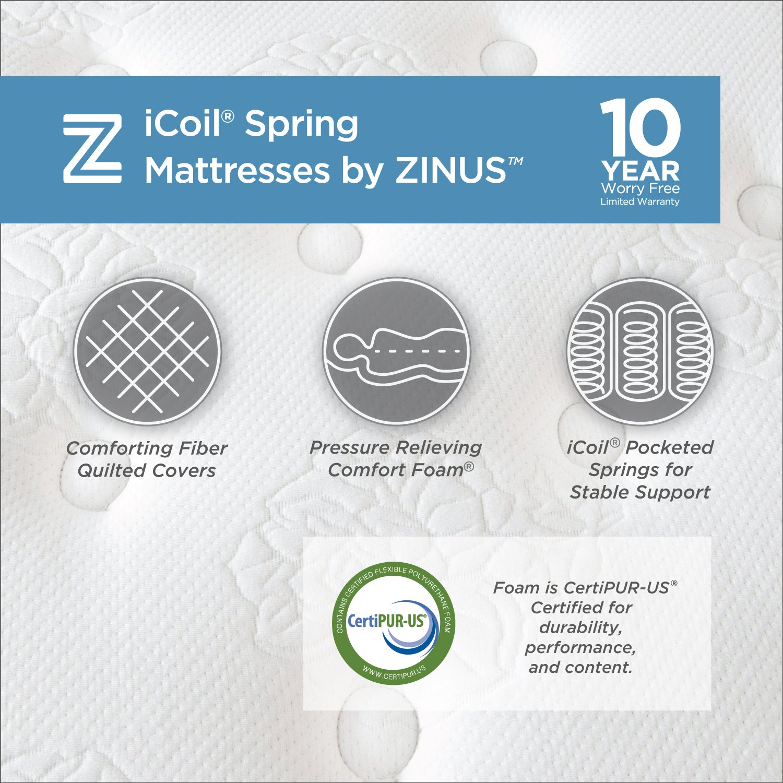 Zinus Classic Spring 10 Inch Mattress,King