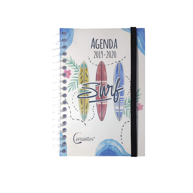 Agenda Escolar 2019-2020 con tapa plastico formato pequeño 120x160 mm español (Futbolista)