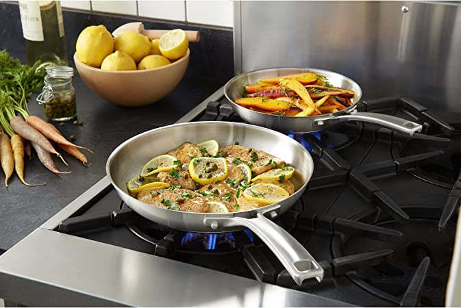 Calphalon Classic Stainless Steel Cookware, Fry Pan, 2-piece