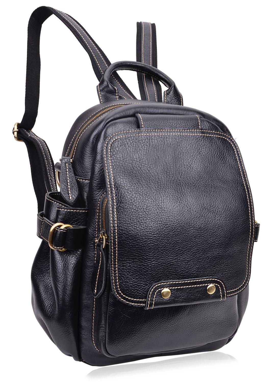 PIJUSHI Fashion Leather Backpack Unisex Large Casual Backpacks 8812(One Size, New Black)