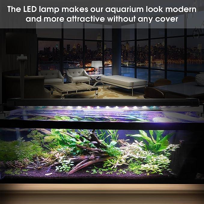 Main Luz LED, iluminación Acuario Acuario Blanco Azul Rojo Verde luz 7,5 W/16 W/22 W/31 W con ajustable Soporte para 30 cm de 50 cm/50 cm de 70 cm/70 cm de ...