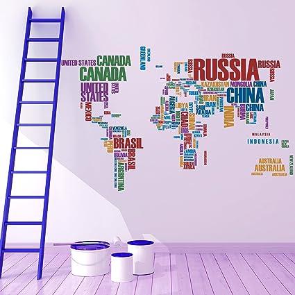 Buy destudio world map wall sticker pvc vinyl 130 cm x 80 cm destudio world map wall sticker pvc vinyl gumiabroncs Images