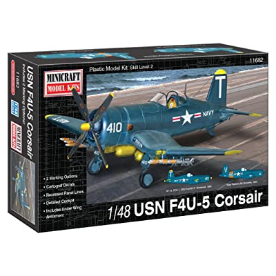 Minicraft Models 1:48 Scale USN F4U-5 Corsair Model Kit: Toys & Games