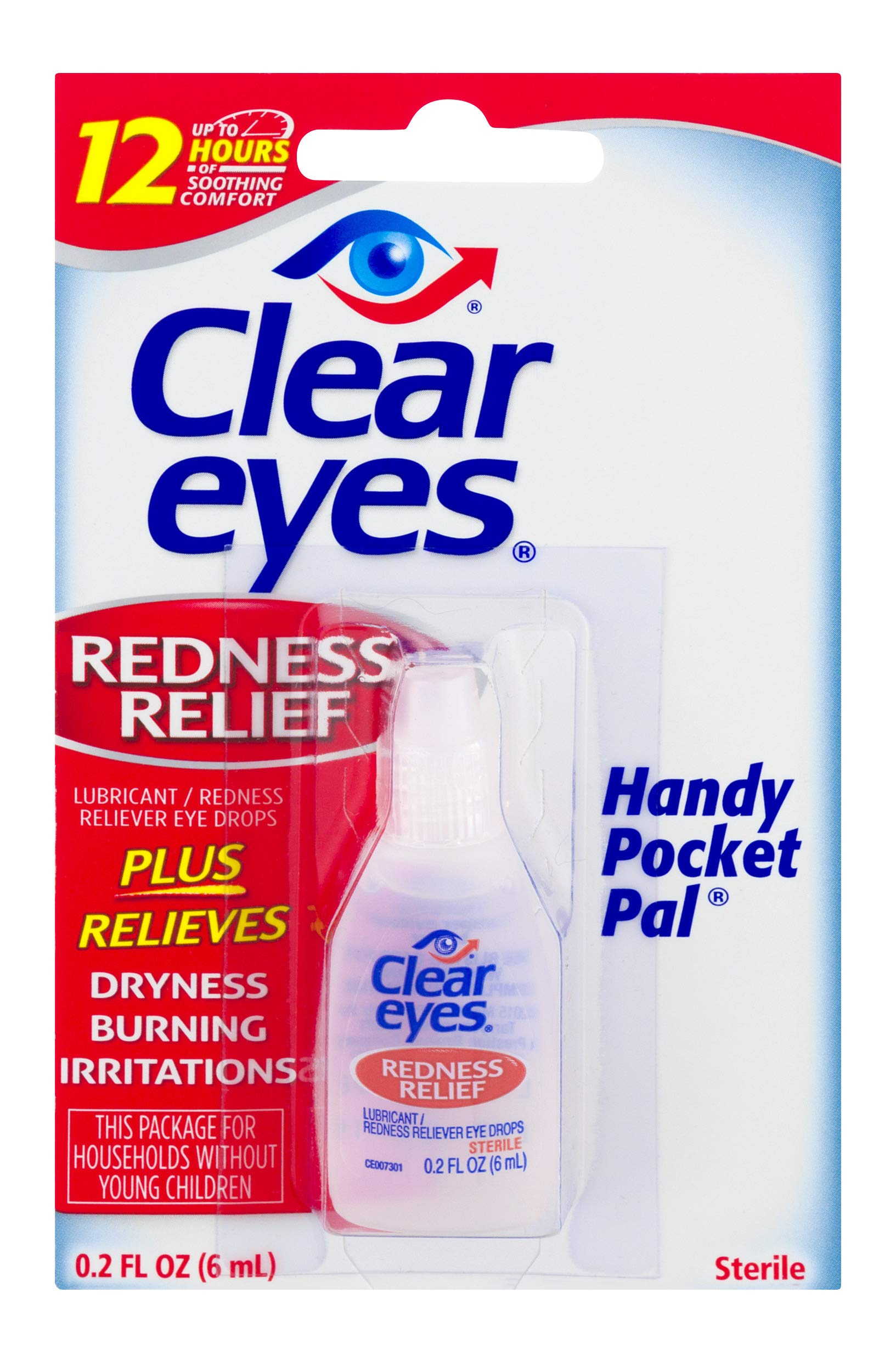 Clear Eyes | Handy Pocket Pal Redness Relief Eye Drops | 0.2 FL OZ