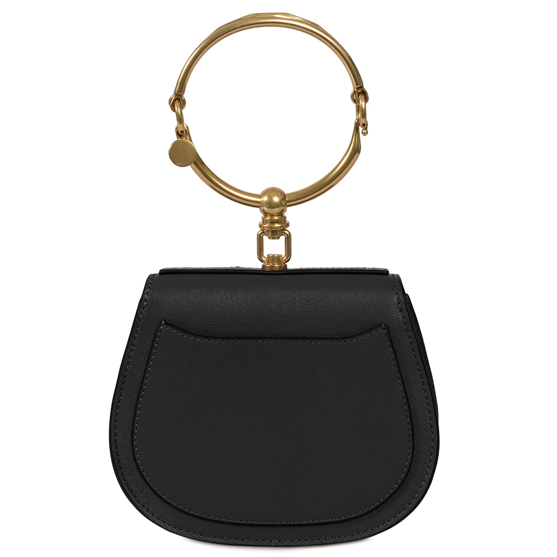 db2eac61df Chloe Nile Bracelet Small Black Leather Shoulder Bag: Amazon.ca ...