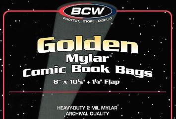 100) dorado edad 2 Mil Mylar bolsas de poliéster, diseño de ...