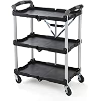 Olympia 3-Shelf 4-Wheeled Multi-Purpose Utility Cart (Black)