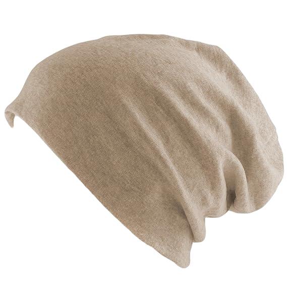 Gorro Long Beanie XXL Slouch, moda, para mujer y hombre Beige Sand ...