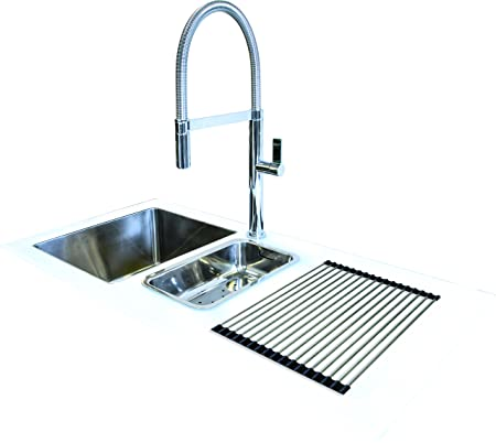 Reflection Glass Kitchen Sink White 1000mm x 500mm Right Hand ...