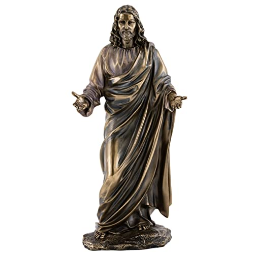 Top Collection Jesus Statue – Son of God Sculpture in Premium Cold Cast Bronze- 11.25-Inch Collectible Lord of All Savior Figurine