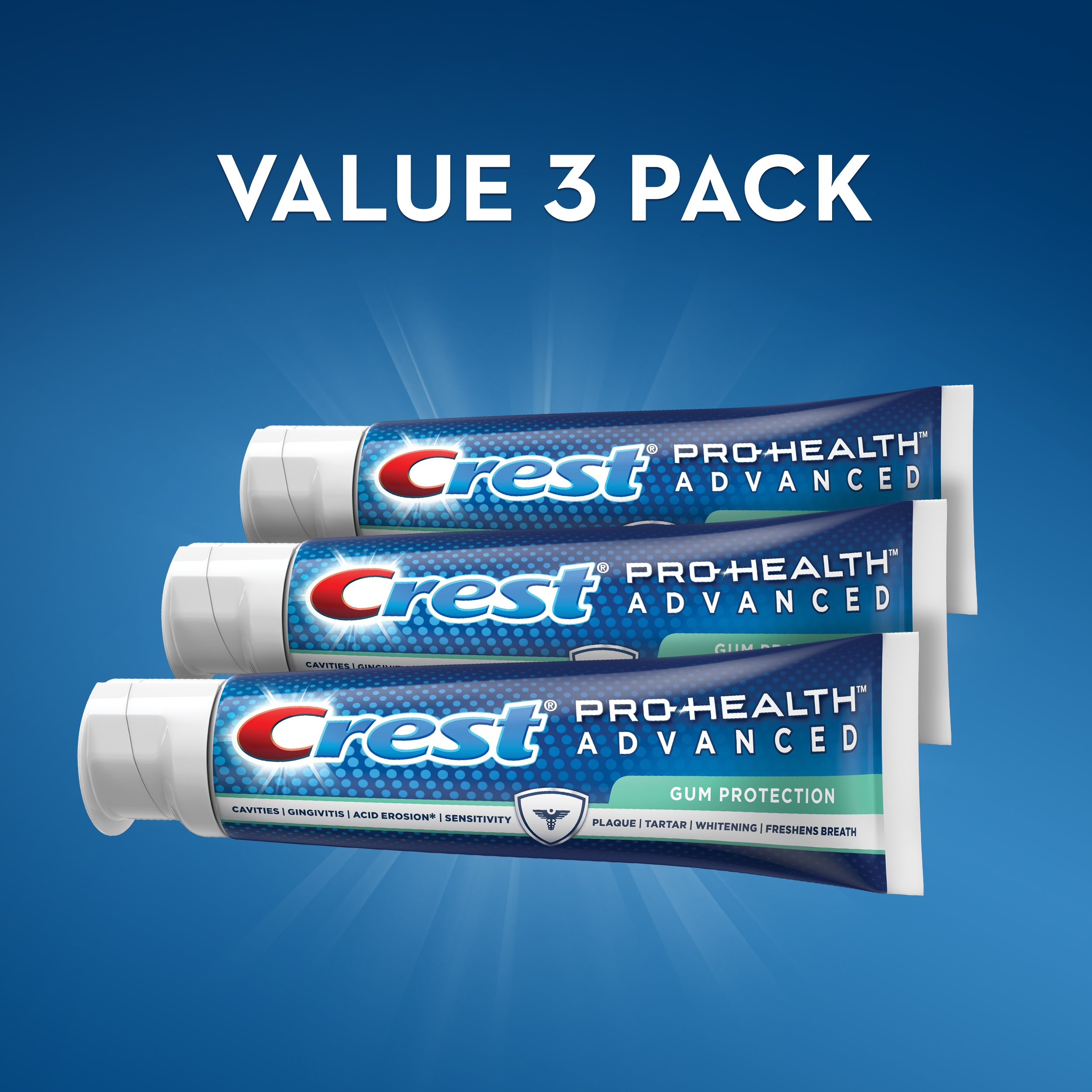 Crest Pro-Health Advanced Gum Protection Toothpaste, 5.1 oz, Triple pack by Crest (Image #5)