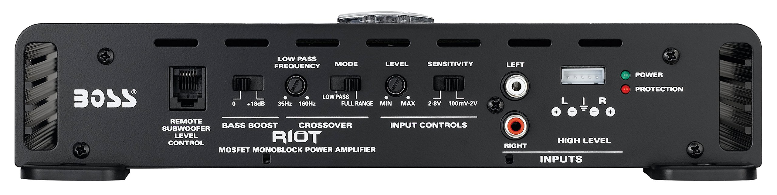 BOSS Audio Systems R1100M Monoblock Car Amplifier - 1100 Watt Amp, 2/4 Ohm Stable, Class A/B, Mosfet Power Supply, Remote Subwoofer Control, Subwoofer Amplifier