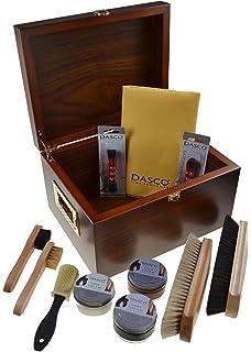 Conjunto de limpieza de botes Allround de 12 partes con una caja de madera práctica con el tamaño de 30 x 20 x 14 centímetros z2408 AxBSyaar
