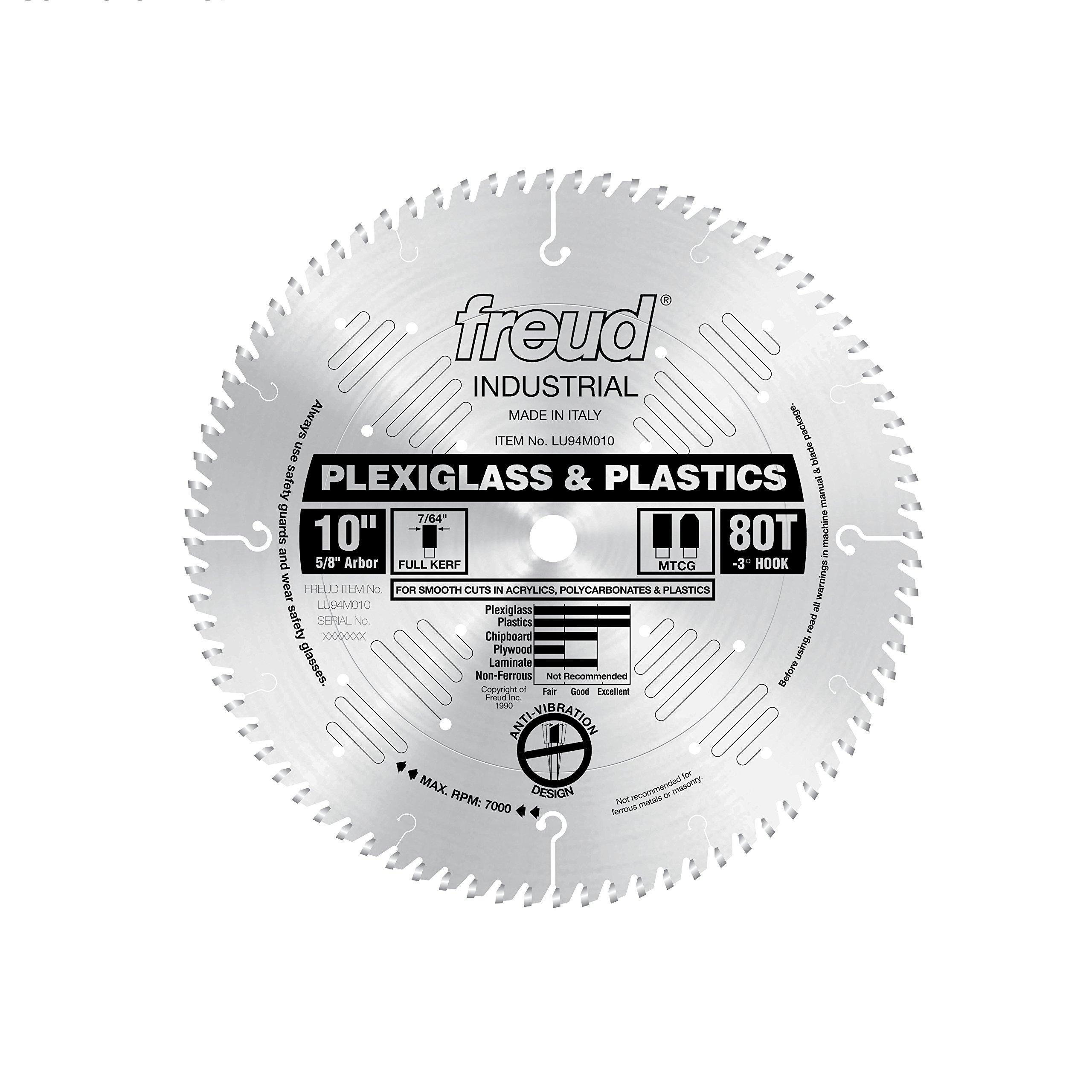 Disco Sierra FREUD 10 x 80T Plástico (LU94M010)