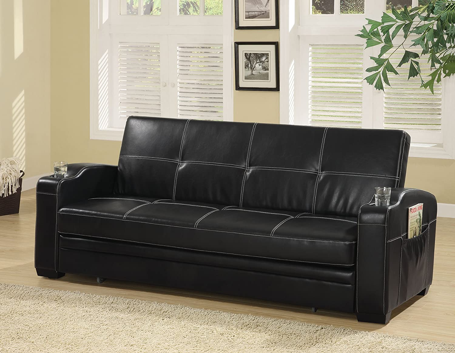 Amazon Com 1perfectchoice Contemporary Living Room Pull Out Sleeper