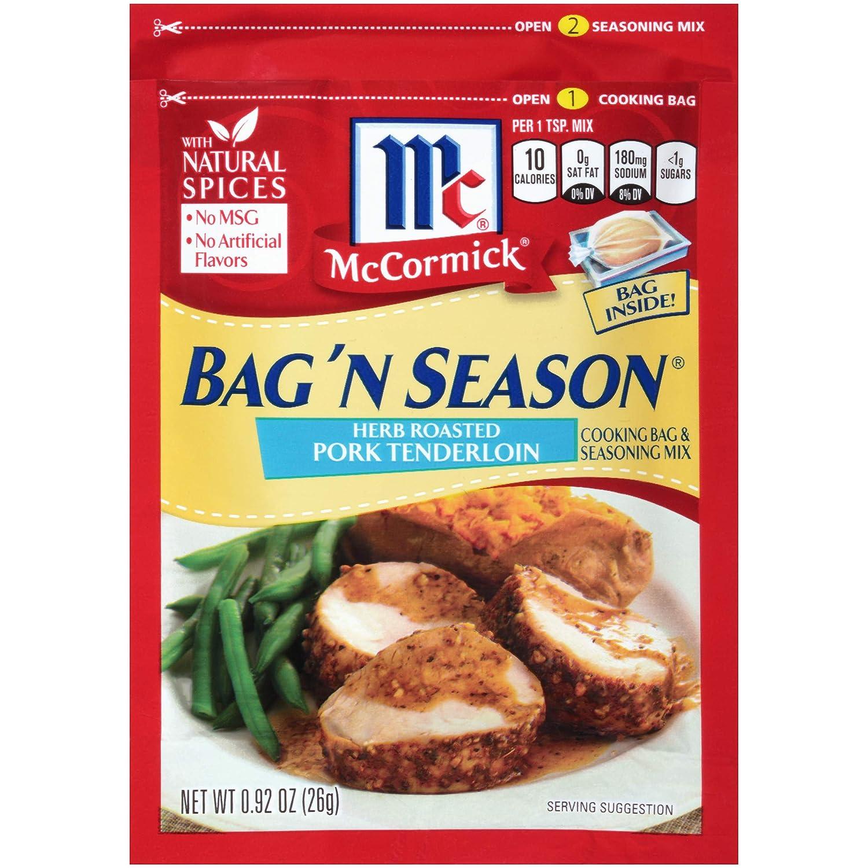 McCormick Bag 'n Season Herb Roasted Pork Tenderloin Cooking & Seasoning Mix, 0.92 oz (Pack of 6)