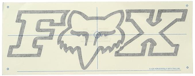 Fox mens f head x thermal die cut sticker 10 inch black