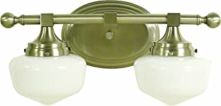"""product image for Framburg 2938 BN Taylor 2-Light Vanity Fixture with White Opal Glass Shades, 17"""" x 8.5"""" x 9"""", Brushed Nickel"""