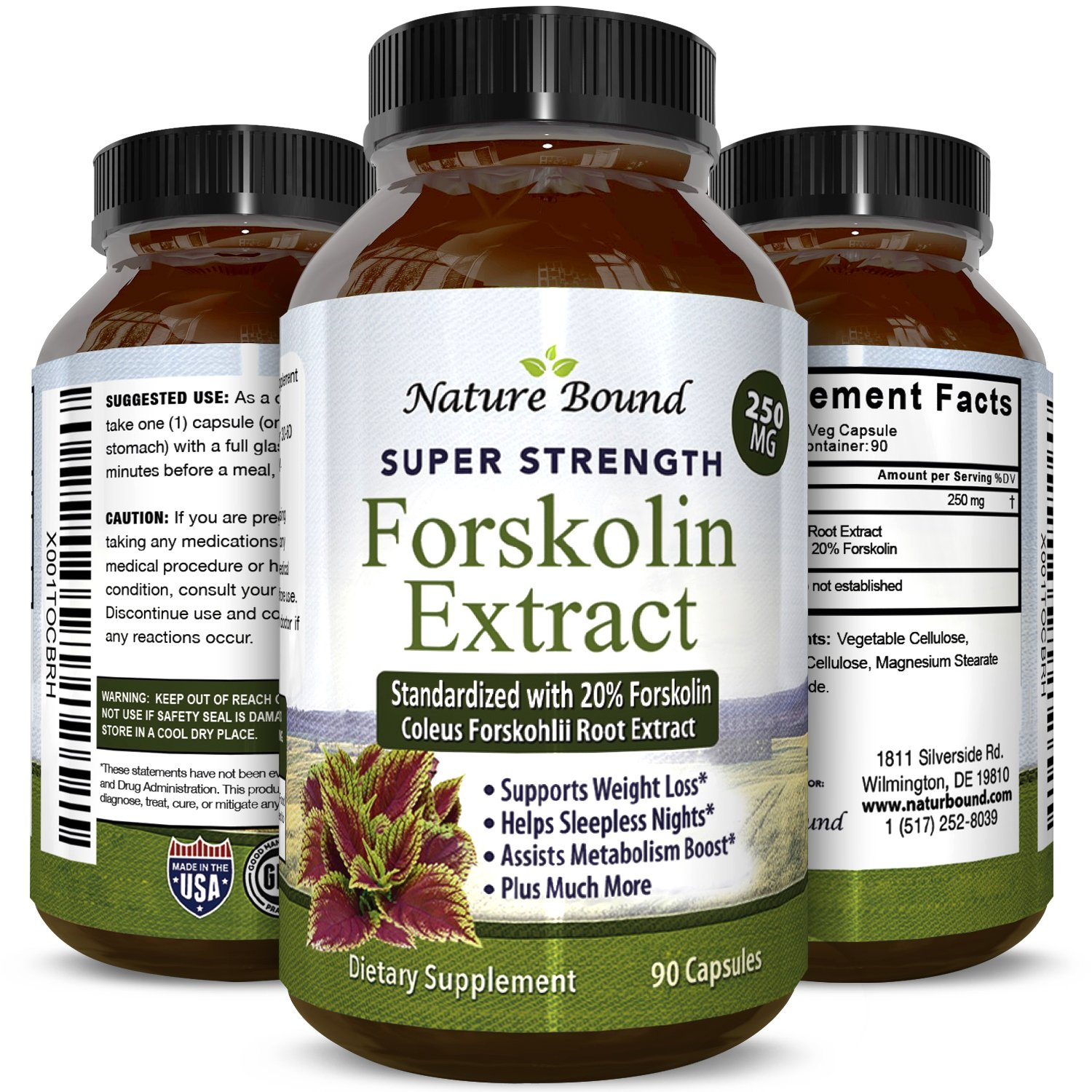Max Strength Forskolin Weight Loss Supplement for Men and Women - Fast Acting Diet Pills Natural Appetite Suppressant Potent Fat Burner Builds Muscle Boosts Energy 90 Veggie Capsules