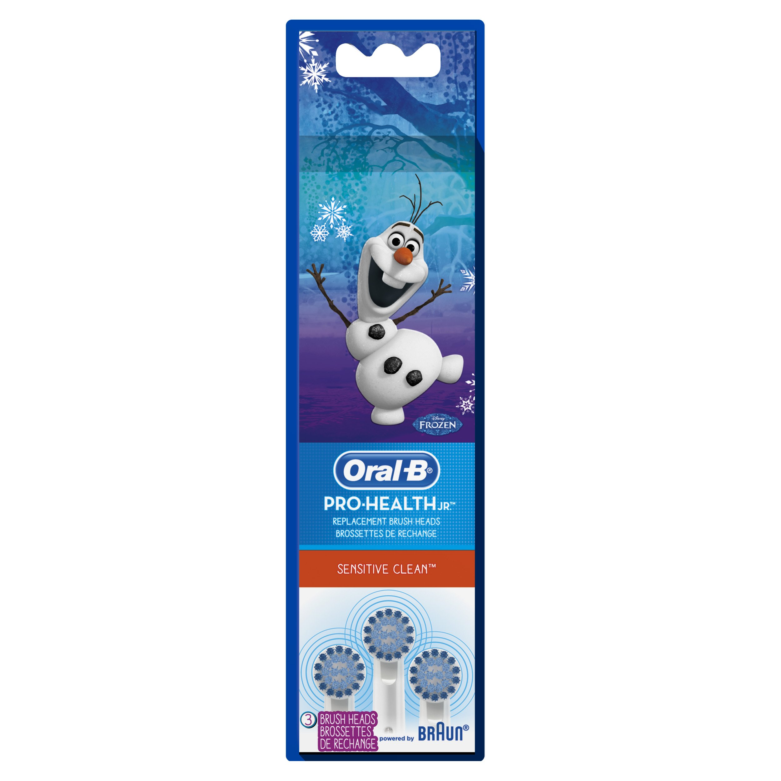 Oral-B Pro-Health Jr. Disney Frozen Kids Electric Toothbrush Replacement Brush Heads Refill, 3 Count by Oral-B