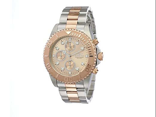 Invicta 1775 Pro Diver Reloj para Hombre acero inoxidable Cuarzo Esfera oro rossa: Amazon.es: Relojes