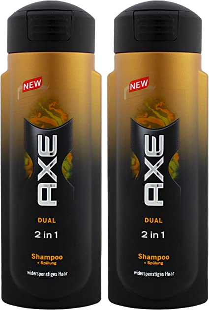 Axe Dual para El Champú 2 en 1 (3 x pack de 2 unidades) 300 ml ...