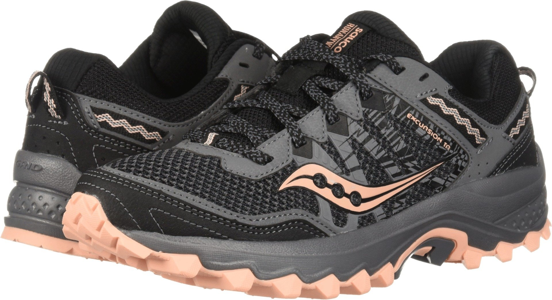 Saucony Women's Excursion TR12 Sneaker, Grey/Peach, 7 M US