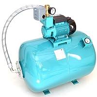 100L mit Luftdruckmano Hauswasserwerk Pumpe WZ 750 W Hauswasserautomat Gartenpumpe