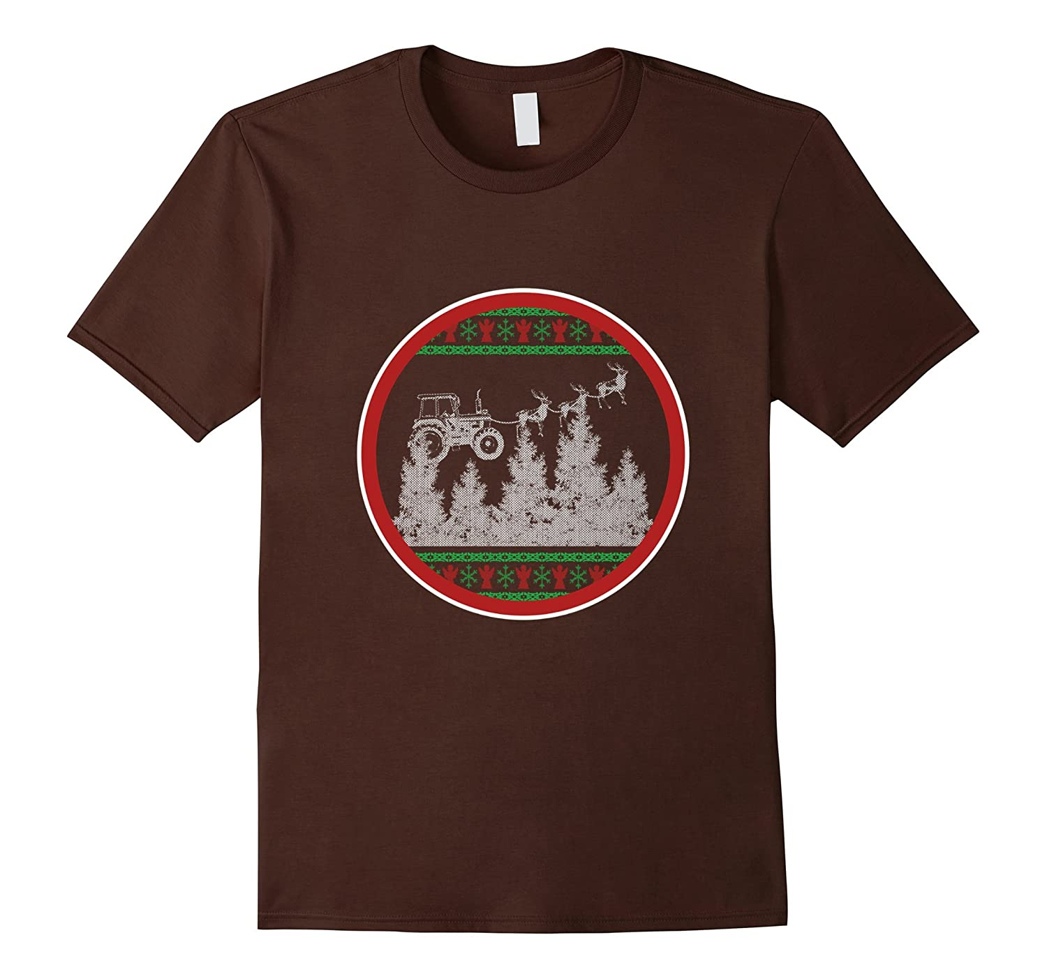 Funny Tractor T-shirt Ugly Christmas Jumper Tee Gift