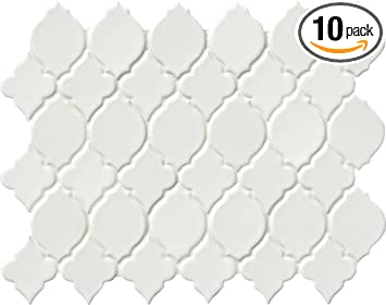 M S International Denali In X In X Mm Glazed Ceramic - 8 x 10 white ceramic tile