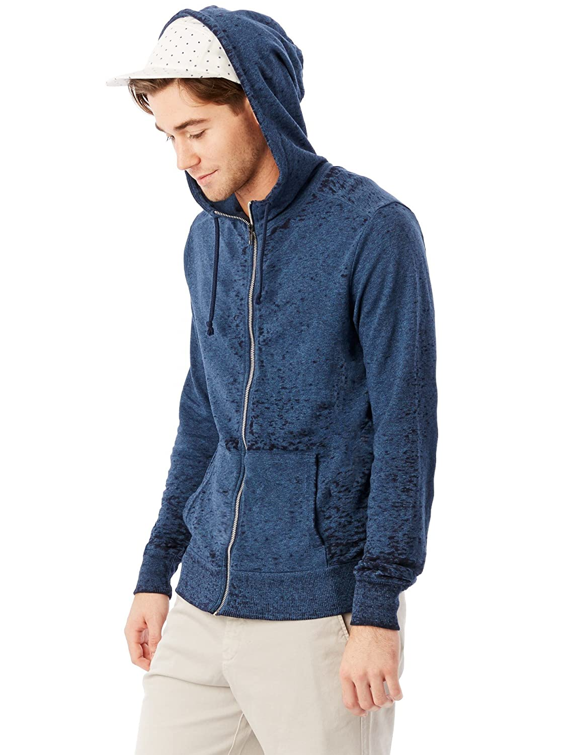 Alternative Mens Eco Twist French Terry Burn Out Mock Rocky