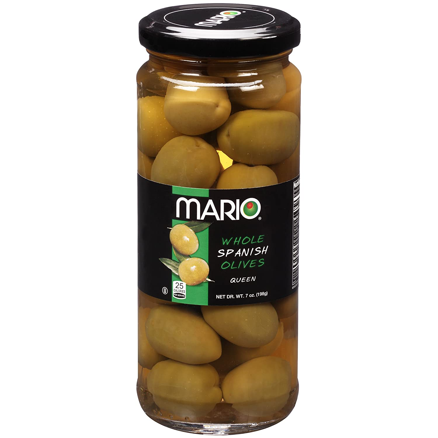 Mario Camacho Foods Whole Spanish Queen Olives, 7 Ounce