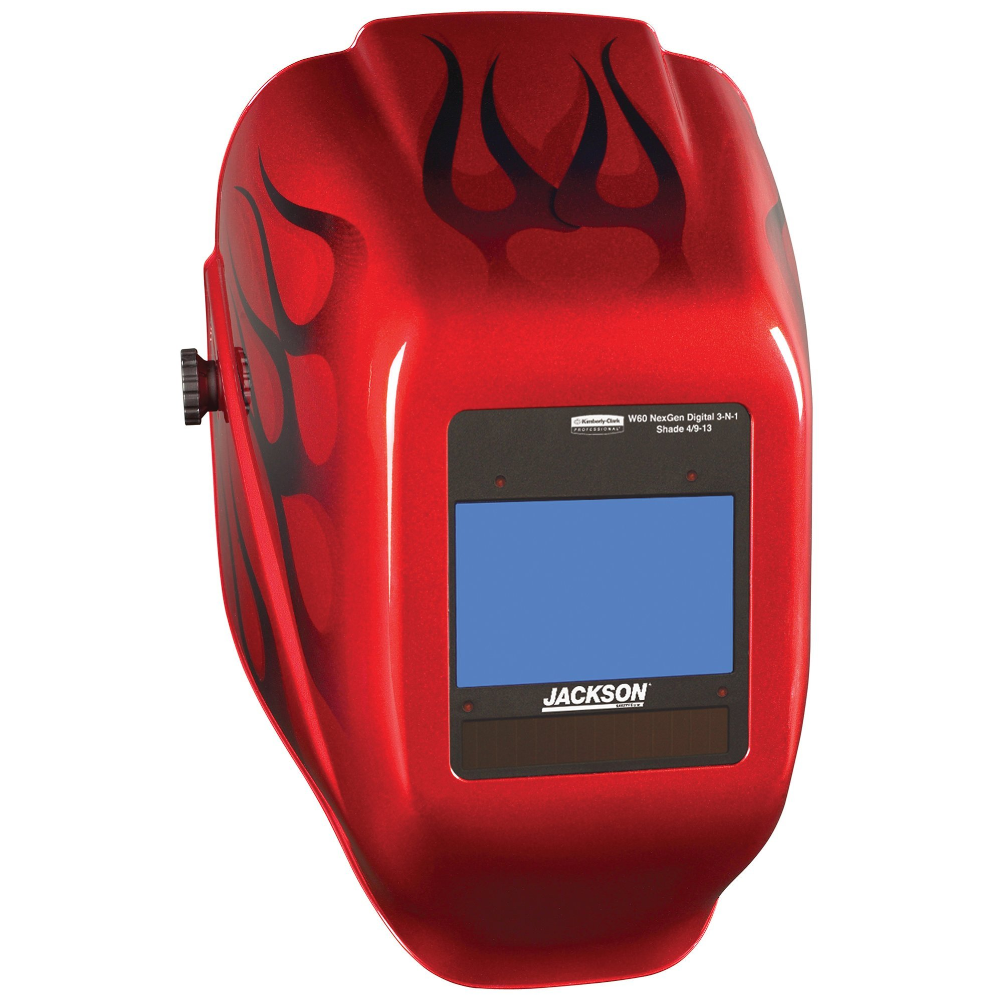 Jackson Safety HSL 100 Welding Helmet with NEXGEN 3-in-1 ADF (46149), Digital Auto Darkening, I-2 Red Flame Style by Jackson Safety