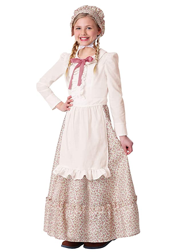 Victorian Kids Costumes & Shoes- Girls, Boys, Baby, Toddler Girls Prairie Pioneer Costume $24.99 AT vintagedancer.com