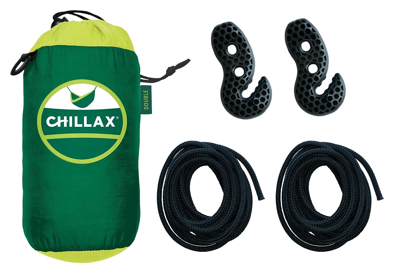 Chillax Travel Hängematte mit integrierter Federung, dunkelgrün ...