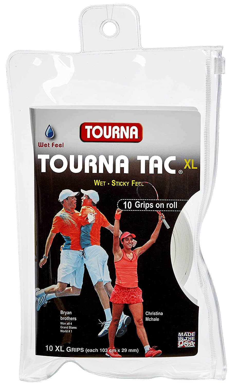 TOURNA TAC Overgrip XL Grip de Tenis (Pack de 10 Grips), Blanco: Amazon.es: Deportes y aire libre