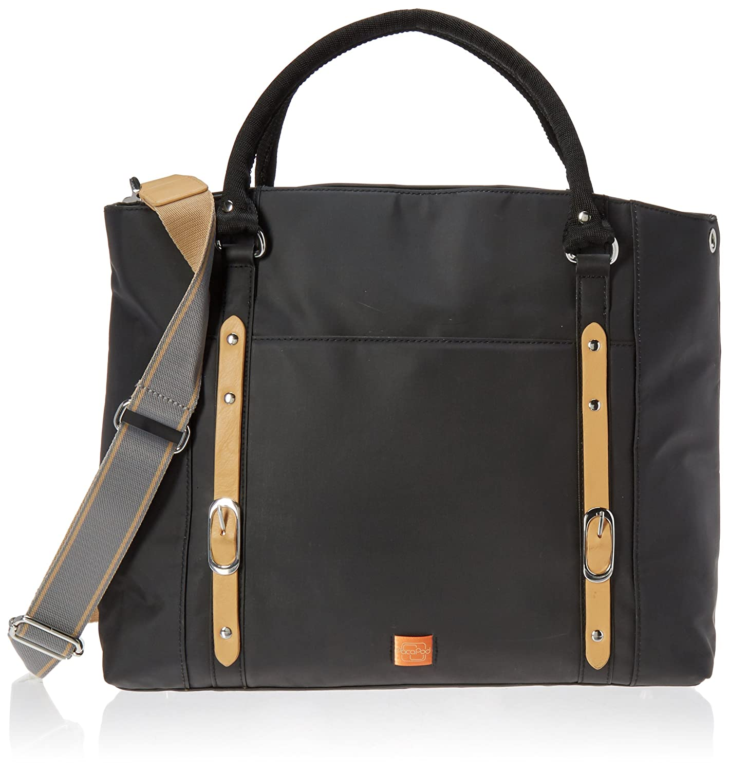 e651e51876d4b PacaPod Mirano Black Designer Baby Changing Bag - Luxury Black Tote 3 in 1  Organising System: Amazon.co.uk: Baby