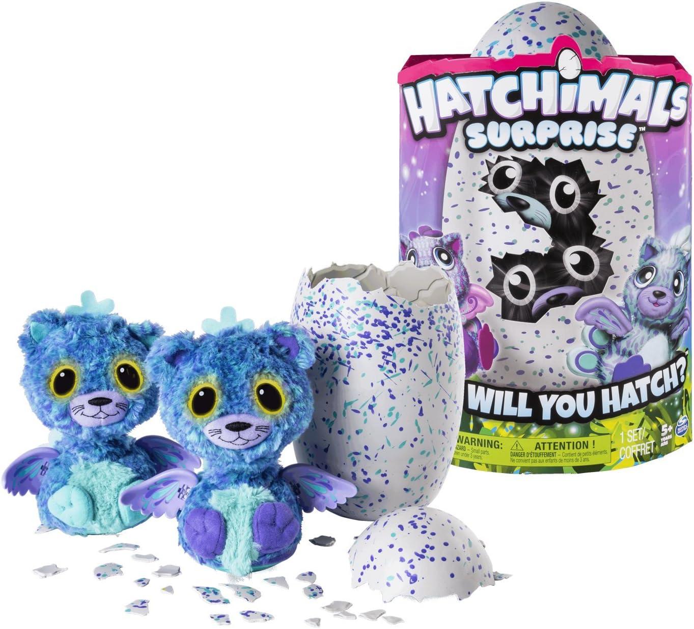 HATCHIMALS Spin Master Surprise Purple Teal Egg versi/ón importada