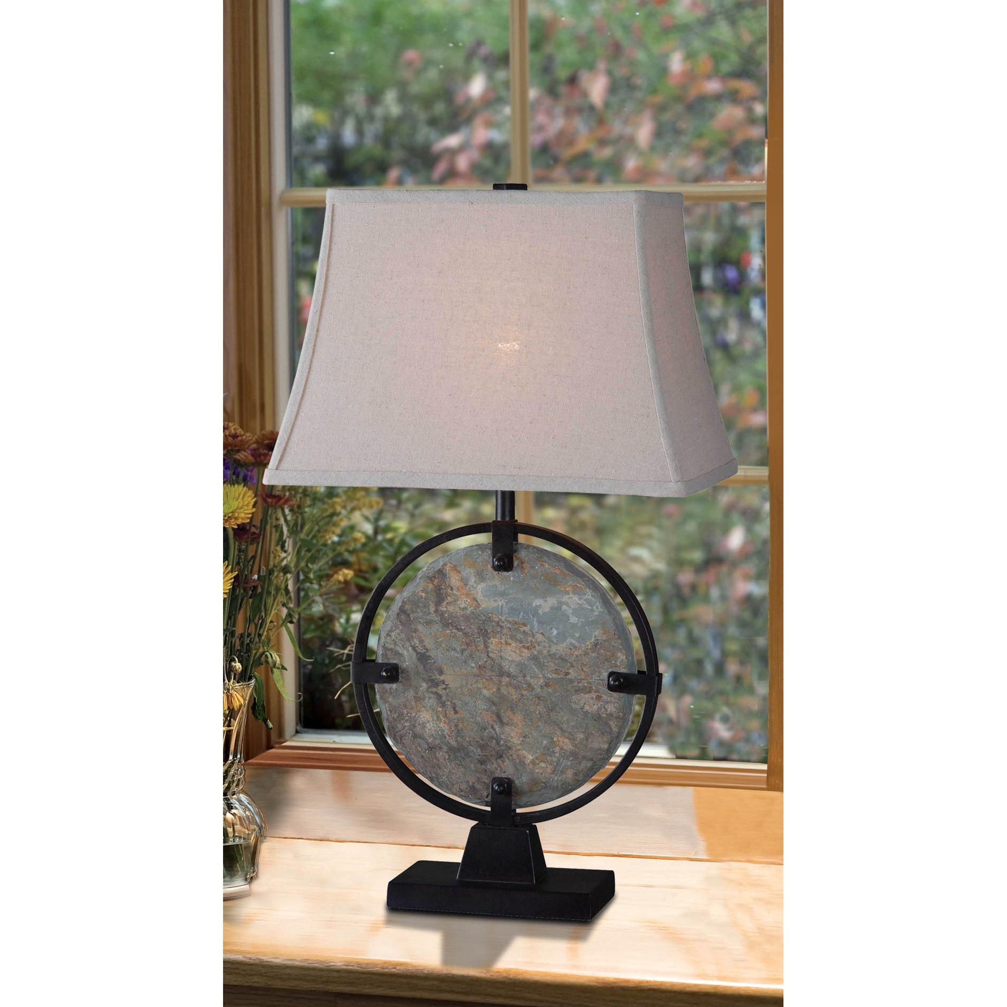 Kenroy Home 32226SL Suspension Table Lamp, Natural Slate by Kenroy Home (Image #2)