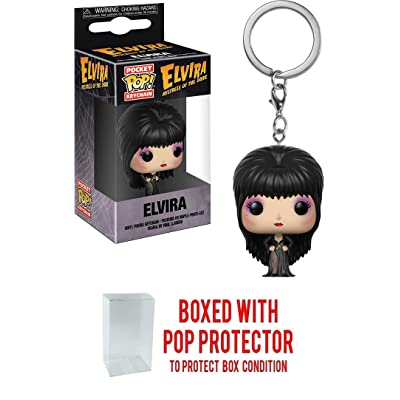 POCKET POP Elvira Collectible Mini-Figural Keychain (Bundled with Pop Box Protector Case): Toys & Games