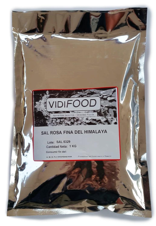 Sal Rosa del Himalaya - 1 kg - Rica en nutrientes y minerales - 100% natural y sin toxinas - Alternativa baja en sodio perfecta para la sal de mesa común ...