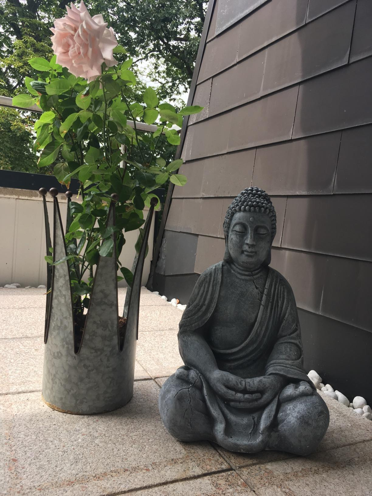 XL Buddha Figur sitzend Dekofigur photo review