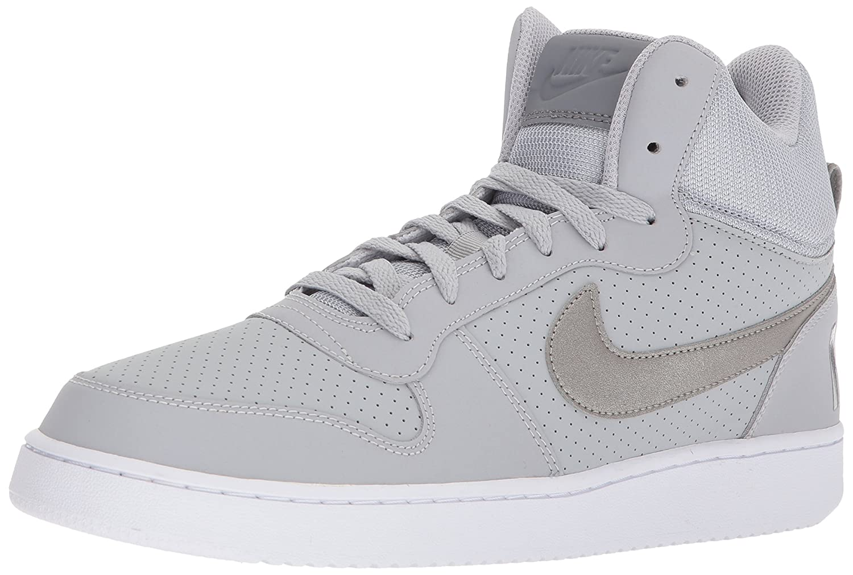 NIKE Men's Court Borough Mid Basketball Shoes B071HH539T 10.5 D(M) US|Wolf Grey/Metallic Pewter/Cool Grey/White